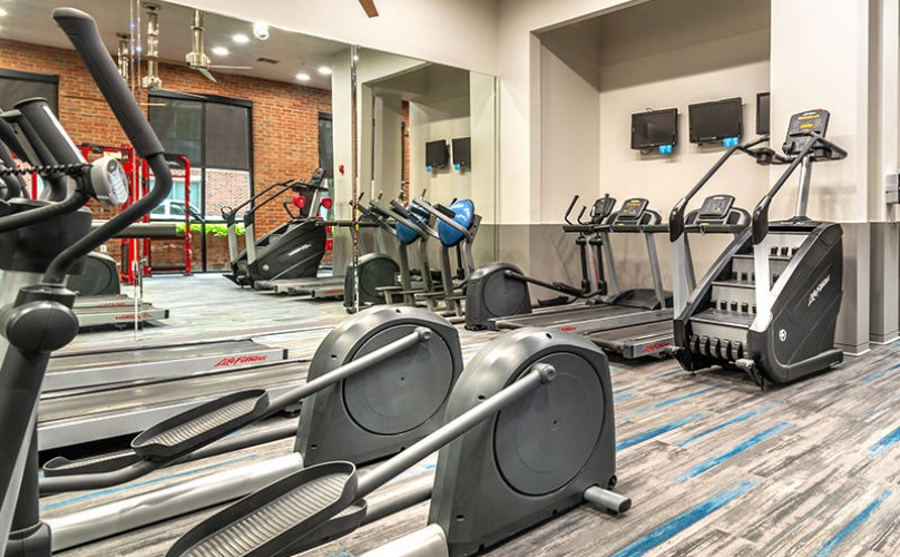 fitness center with ample space for working out
